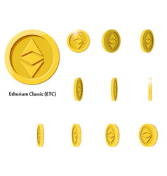 gold rotate etherium frames vector image vector image