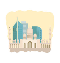 tradition and architectural attractions of state vector image