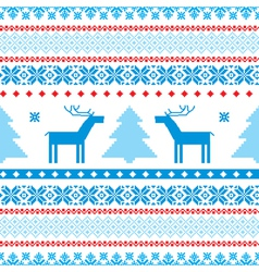 traditional christmas knitted vector image vector image