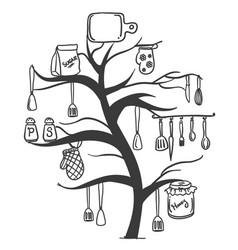Kitchen set tree vector