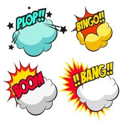 Set speech bubbles vector image vector image