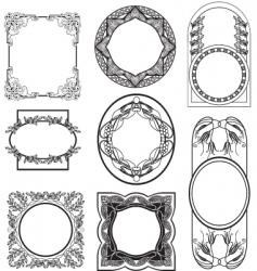 Set vintage frame vector