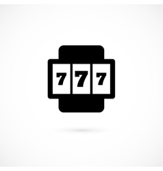 Slot machine icon isolated on white background vector image