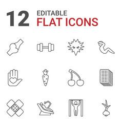 12 health icons vector