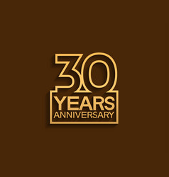 30 years anniversary design line style vector