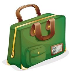 a green bag vector image