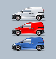 a set vans for mounting your advertisement vector image