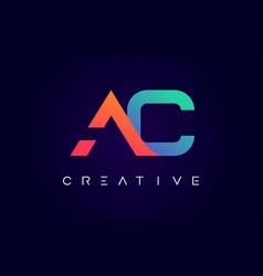 Ac logo letter design with modern creative vector