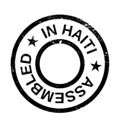 Assembled in Haiti rubber stamp vector image