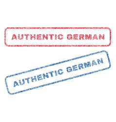 authentic german textile stamps vector image