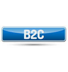 B2c - abstract beautiful button with text vector