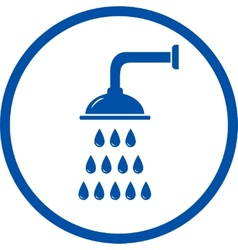 blue sign with shower head vector image
