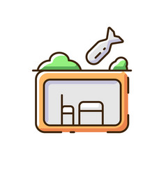 Bomb shelter rgb color icon vector