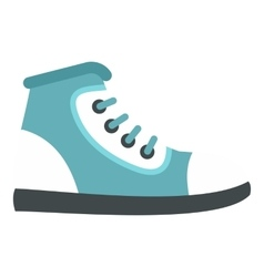 Boot icon flat style vector