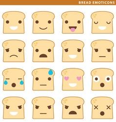 bread emoticons vector image vector image