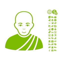 Buddhist Monk Icon With Free Bonus vector image