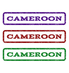 Cameroon watermark stamp vector