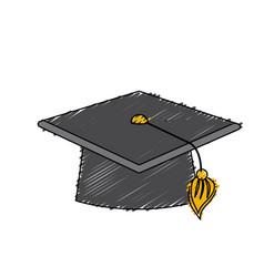 Cap graduation object design vector