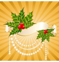 Christmas garnish vector image