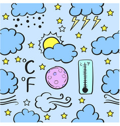 Collection stock of weather style doodles vector