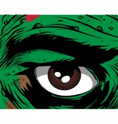 Comic book eye vector