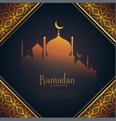 creative ramadan kareem festival greeting with vector image