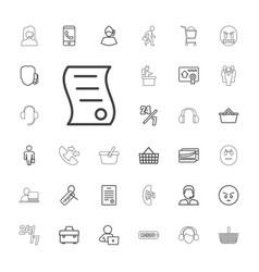 Customer icons vector