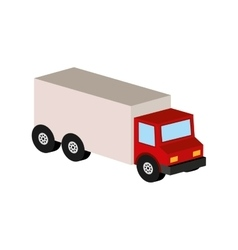 delivery truck icon transport design vector image