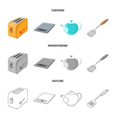 Design of kitchen and cook symbol vector