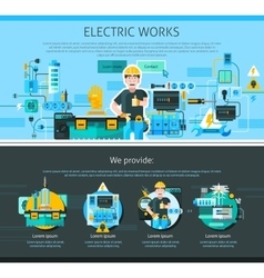 Electrician one page design vector