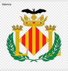 emblem of valencia city of spain vector image