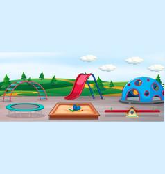 Empty playground and fun equipment vector