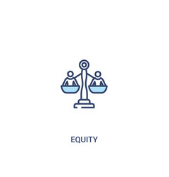 Equity concept 2 colored icon simple line element vector