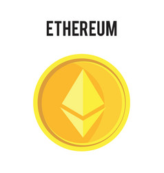 ethereum symbol icon eps file vector image