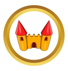 Fairy tale castle icon vector
