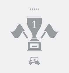 first place cup winner - web icon vector image