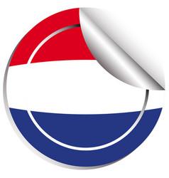 flag of netherland in sticker design vector image vector image