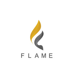 Flame 3d logo vector