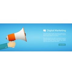 flat style web banner digital marketing vector image