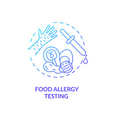 Food allergy testing concept icon vector