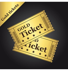 Gold tickets vector