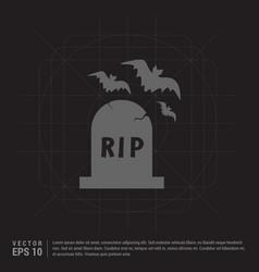Halloween grave icon vector