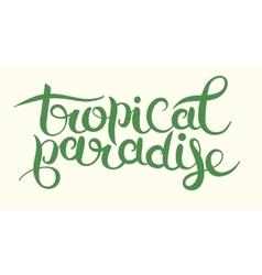 Hand-written typography calligraphic brush vector