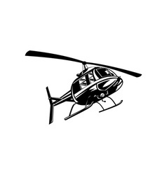 Helicopter Chopper Retro vector