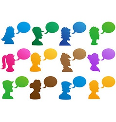 human head with speech bubble vector image