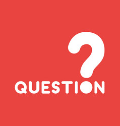 icon concept of question word with question mark vector image