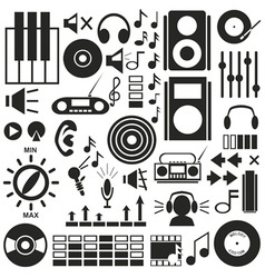 Icons music sound vector