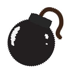 Isolated pixelated bomb icon vector
