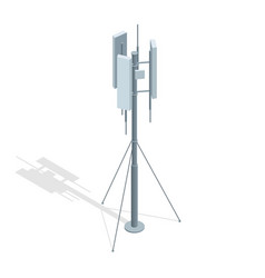 Isometric telecommunications towers a mobile vector