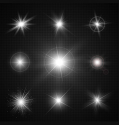 light effects of sparkling stars vector image